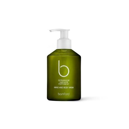 Bamford Geranium lavender peppermint hand and body wash