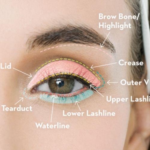 Base eyeshadow to the eyelid